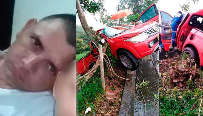joven muerto accidente vía Armenia - Pereira