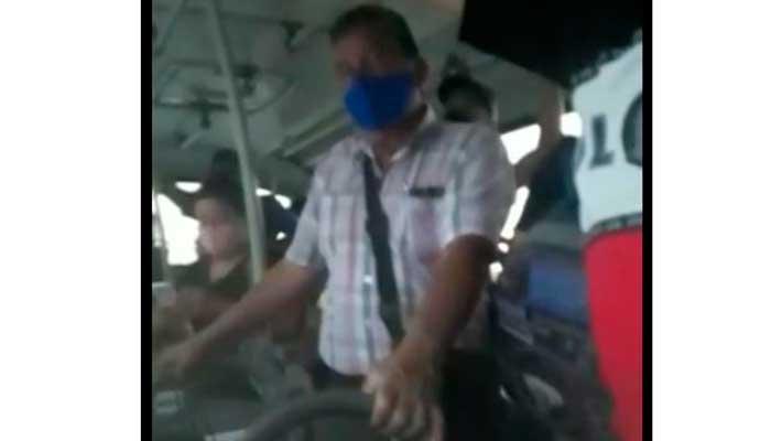Denuncia en vídeo: Buses repletos hacia La Tebaida sin respeto a normas de bioseguridad