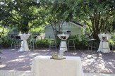 Bistro tables and chairs can be rented