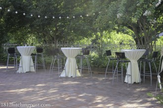 Rented bistro tables and chairs