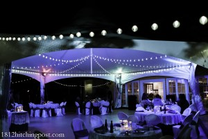 1812 Hitching Post Reception Tent