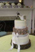 Fun sprinkles sporty wedding cake
