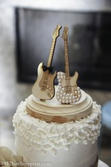 Guitar wedding cake topper