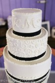 Wedding cake with piping