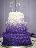 Puple and lilac wedding cake