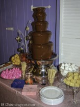 Easter chicks chocolate fountain
