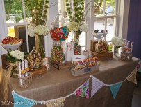 Burlap candy bar