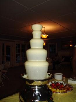 White chocolate fountain
