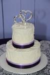Swirl Cake with lilac and deep purple ribbon