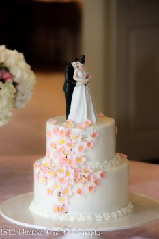Pink and peach blossom Cake