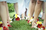 Bouquets and shoes