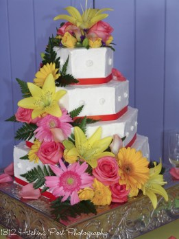 Hexagonal shaped cake