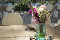 Flowers in antique mason jars