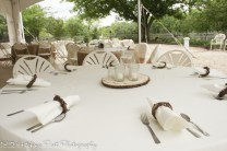 Grapevine napkin rings with wood centerpiece