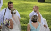 Bride's parents high five