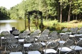 Seating with lake backdrop