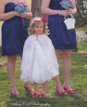 Flower girl -hot pink and navy