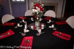 Apple red napkins