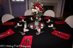 Apple red napkins