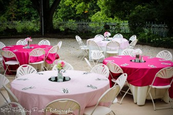 Pale pink and hot pink overlays