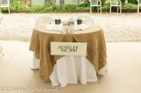 Burlap sweetheart table