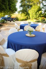 Navy with burlap sashes