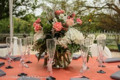 Coral tablecloth