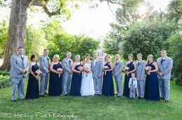Coral Navy Outdoor Wedding-19