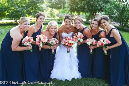Coral Navy Outdoor Wedding-20