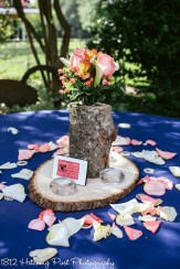 Coral Navy Outdoor Wedding-7