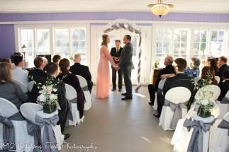 Indoor ceremony in Wisteria room