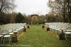 Back lawn autumn ceremony