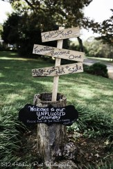 Signs at the ceremony