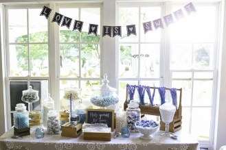 Candy bar in blues