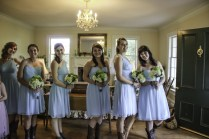 Bridesmaids about to walk down the aisle