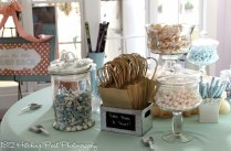 Candy bar in aqua and peach