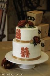 Double Happiness Wedding Cake