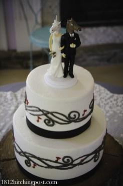 Musical notes wedding cake