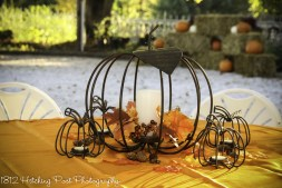 Copper pumpkin centerpiece