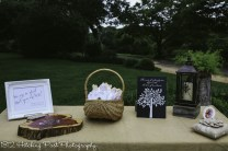 Guest book table outside