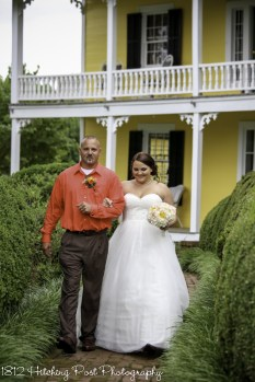 Dad walks bride down aisle