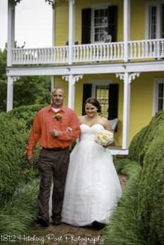 Dad walks bride down aisle