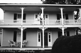 On the balcony of the 1812 part of the house