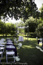 Wedding ceremony outdoors with Chuppah