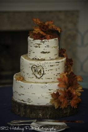 Birch textured cake