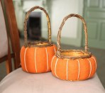 Pair of pumpkin baskets