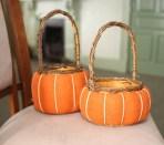 Pair of pumpkin baskets