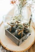 Mini milk jars with mason jar
