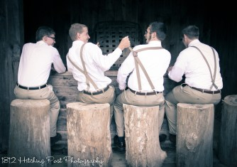 Groomsmen at the lake