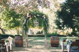 Florist provided greenery and flowers; our chandelier and barrels